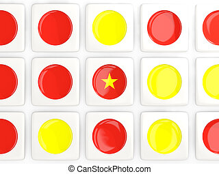 Mosaic background with flag of vietnam