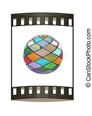 Mosaic ball. The film strip