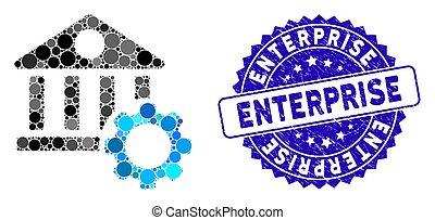 Mosaic Bank Options Icon with Distress Enterprise Seal
