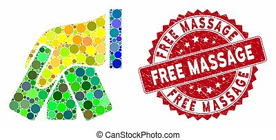 Mosaic Banknotes Payment Hand with Distress Free Massage Seal