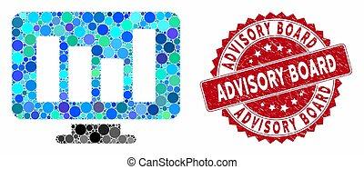 Mosaic Bar Chart Monitoring with Distress Advisory Board Seal