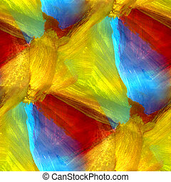 mosaic blue green red yellow abstract background seamless gouache