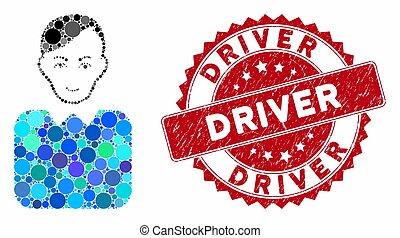 Mosaic Bureaucrat with Scratched Driver Seal