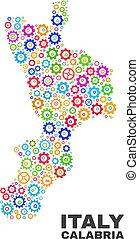 Mosaic Calabria Region Map of Gear Items - Mosaic technical...