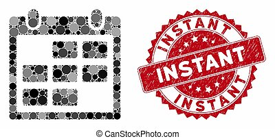 Mosaic Calendar Month with Distress Instant Stamp - Mosaic ...