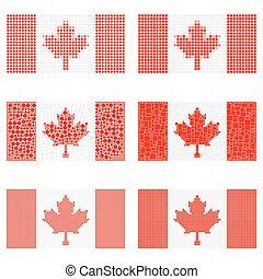 Mosaic Canada flag set