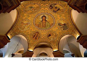 Mosaic ceiling in Jerusalem