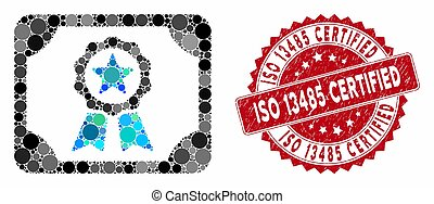 Mosaic Certificate with Textured ISO 13485 Certified Seal