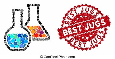 Mosaic Chemistry with Textured Best Jugs Stamp
