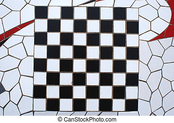 Mosaic Chesss Board - A mosaic of the classical black and...
