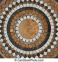 mosaic circle floor