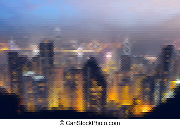 Mosaic city scenery