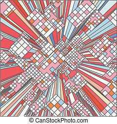 Mosaic Colorful Urban City