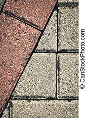 mosaic concrete bricks