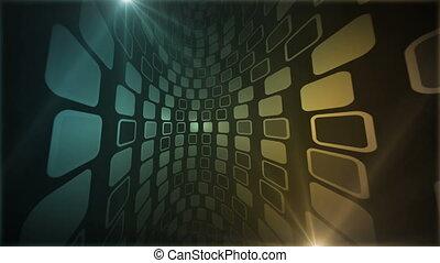Mosaic Corridor Blue Amber - Beautiful 3d perspective view...