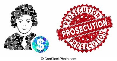 Mosaic Corrupt Judge with Distress Prosecution Seal