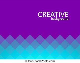 Mosaic cover design. Abstract geometric background. Vector illustration