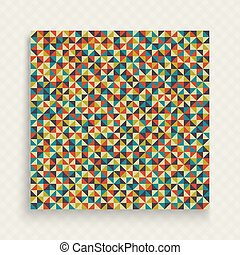 Mosaic. Cover design template. Colorful geometric vector illustration for design. Pattern for textile printing, packaging and wrapper.