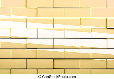 Mosaic cubes background in yellow toned