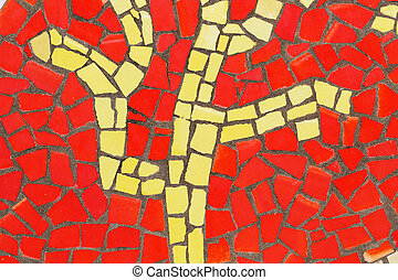 mosaic., détail, verre, multicolore