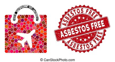 Mosaic Duty Free Bag with Textured Asbestos Free Seal