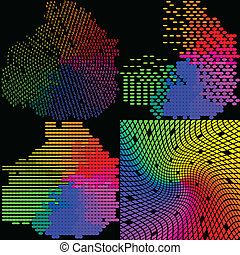 mosaic., ensemble, résumé, multicolore, arrière-plan., vecteur