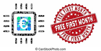 Mosaic Euro Processor with Textured Free First Month Seal