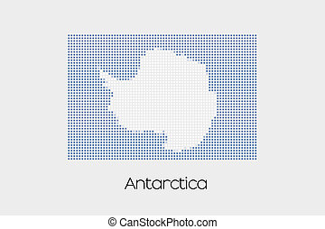 Mosaic Flag Illustration of the country of Antartica - A...