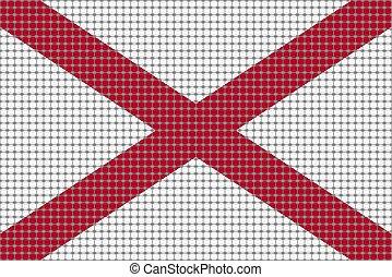 Mosaic flag of Alabama