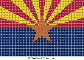 Mosaic flag of Arizona