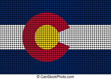 Mosaic flag of Colorado