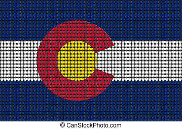 Mosaic flag of Colorado with effect