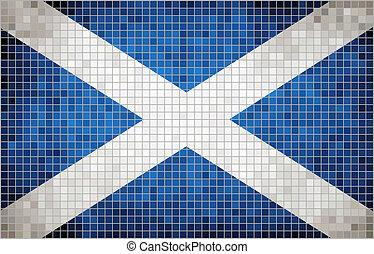 Mosaic Flag of Scotland