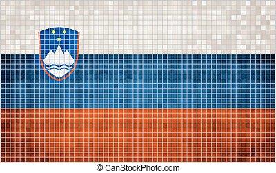 Mosaic Flag of Slovenia
