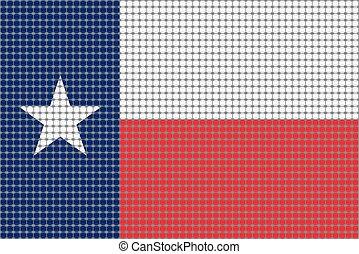 Mosaic flag of Texas