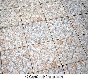 Mosaic style flooring