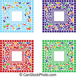 Mosaic Frames - Illustration of mosaic frames on white ...