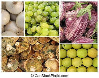 Mosaic fruits and vegetables