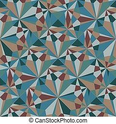 mosaic., gemaakt, traingle, seamless, achtergrond