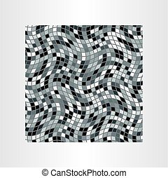 mosaic grayscale abstract background vector