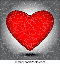 Mosaic heart tiles