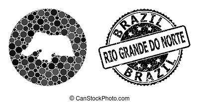 Mosaic Hole Round Map of Rio Grande Do Norte State and ...