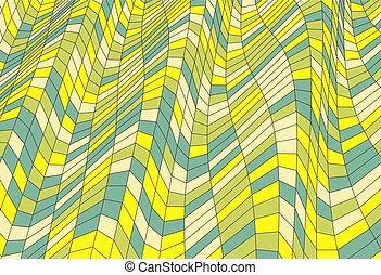 mosaic., illustration., abstratos, polygonal, experiência., vetorial