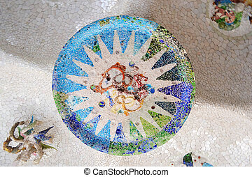 Mosaic in Parc Guell