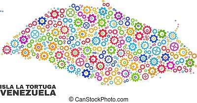 Mosaic Isla La Tortuga Map of Gear Items