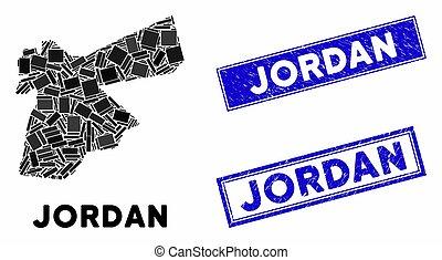Mosaic Jordan Map and Distress Rectangle Stamp Seals