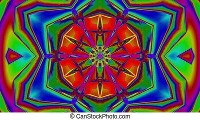 Mosaic kaleidoscope in various colors