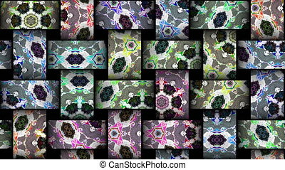 Mosaic kaleidoscopic vj seamless loop