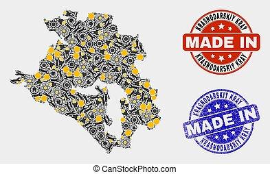 Mosaic Krasnodarskiy Kray Map of Production Elements and ...
