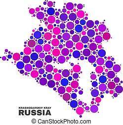 Mosaic Krasnodarskiy Kray Map of Spheric Dots - Mosaic ...